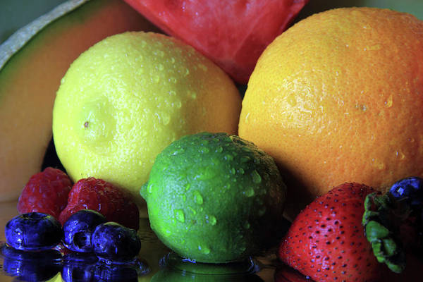 Photograph - Many Colors Of Fruit by Angela Murdock