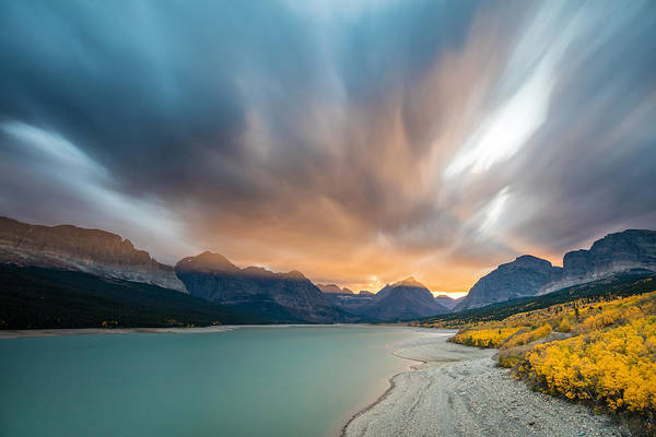 Photograph - Many Glacier Apocalyptic Sunset by Pierre Leclerc Photography