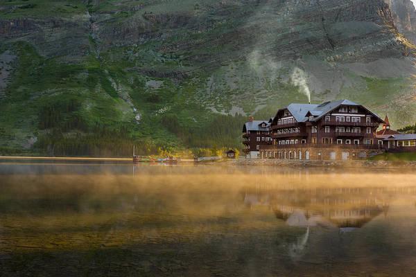 Wall Art - Photograph - Many Glacier Hotel by Steve Gadomski