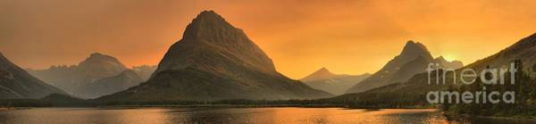 Wall Art - Photograph - Many Glacier Sunset Beams by Adam Jewell