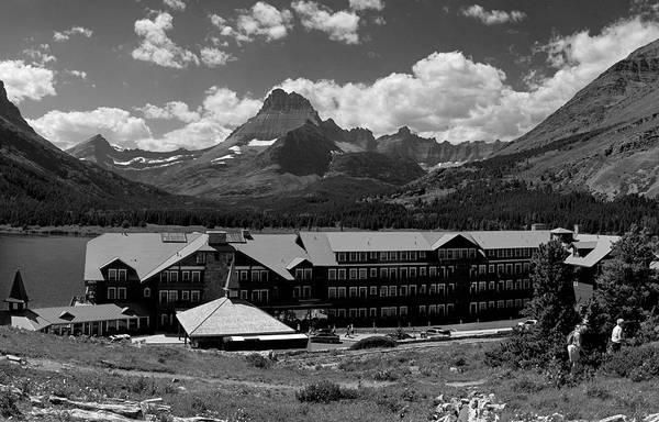 Photograph - Many Glaciers Hotel  by Lee Santa