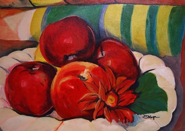 Manzana Wall Art - Painting - Manzanas by Diana Moya
