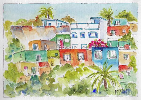 Painting - Manzanillo Hillside by Pat Katz