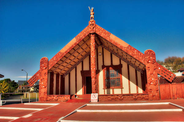 Photograph - Maori Meeting House by Mark Dodd