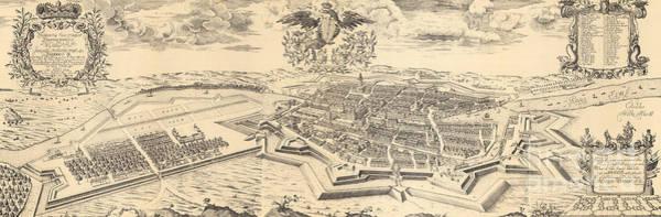 Drawing - Map Of Berlin And Coelln, 1688 by German School
