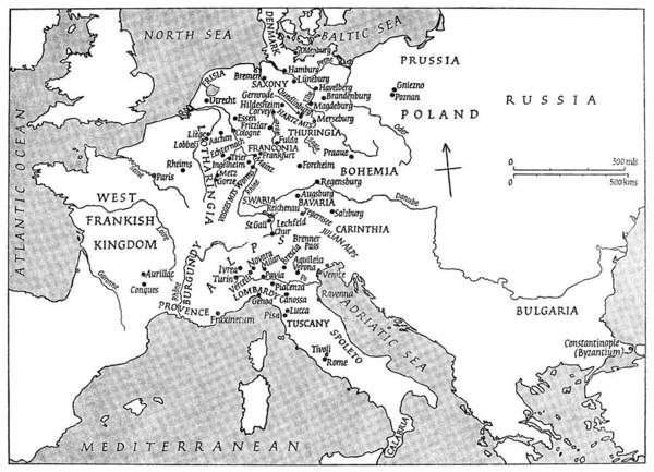 Wall Art - Photograph - Map Of Europe During Reign Of Charlemagne by Granger