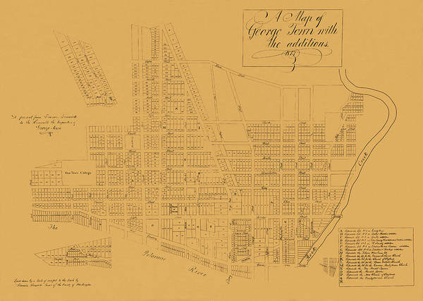 Photograph - Map Of Georgetown 1814 by Andrew Fare