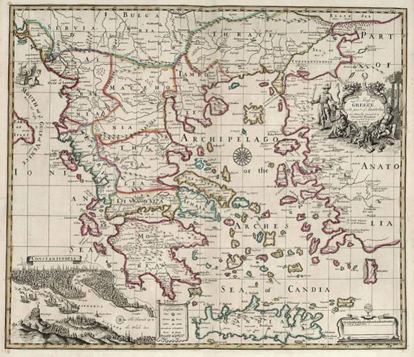 Wall Art - Painting - Map Of Greece by John Senex