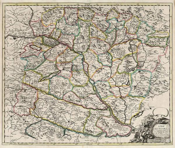 Wall Art - Painting - Map Of Hungary by John Senex