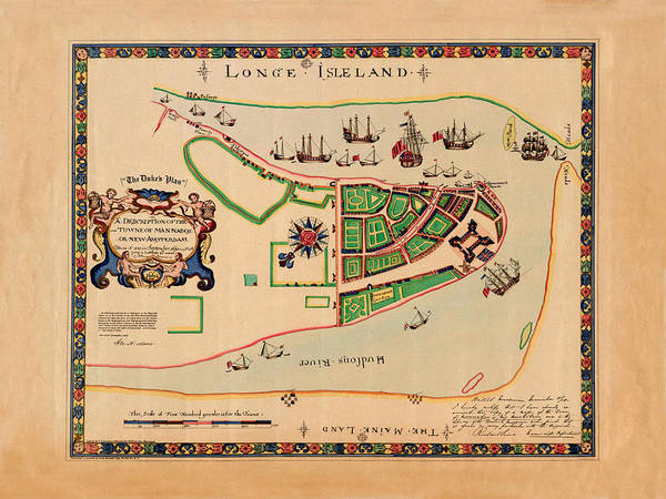 Wall Art - Photograph - Map Of Long Island 1661 by Andrew Fare