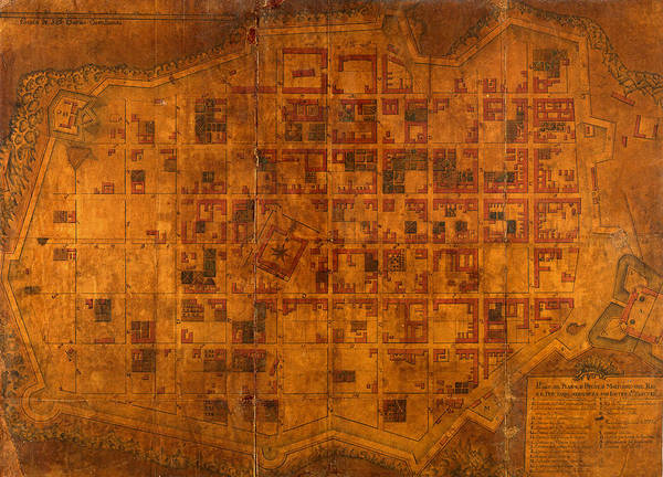 Montevideo Wall Art - Photograph - Map Of Montevideo 1807 by Andrew Fare
