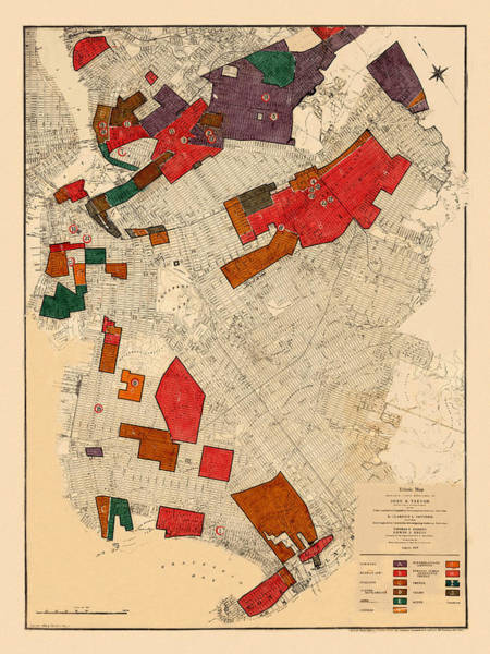 Wall Art - Photograph - Map Of New York 1915 by Andrew Fare