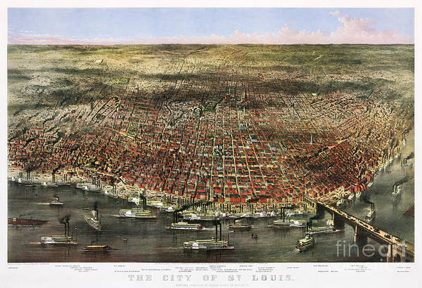 Painting - Map Of Saint Louis by Celestial Images