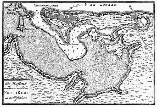 Puerto Rican Photograph - Map Of San Juan, 1766 by Granger