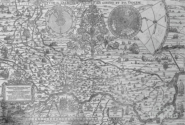 Drawing - Map Of The Town And Diocese Of Cremona, 1571 by Antonio Campi