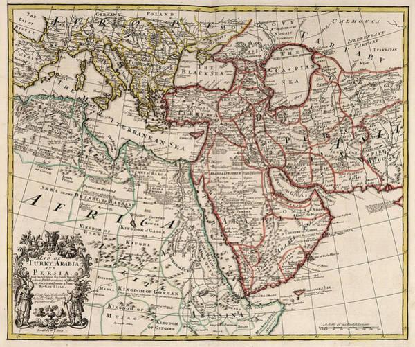 Wall Art - Painting - Map Of Turky, Arabia And Persia by John Senex