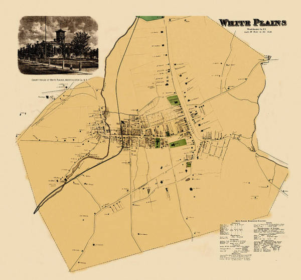 Wall Art - Photograph - Map Of White Plains 1868 by Andrew Fare