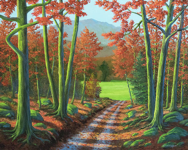 Painting - Maple Forest Road by Frank Wilson