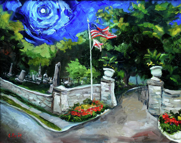 Wall Art - Painting - Maple Hill Cemetery by Carole Foret