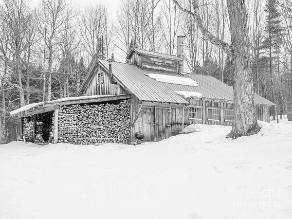 Wall Art - Photograph - Maple Sugar Shack Stowe Vermont by Edward Fielding