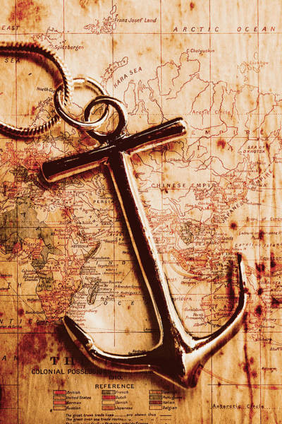 Photograph - Maps And Anchors Fine Art by Jorgo Photography - Wall Art Gallery