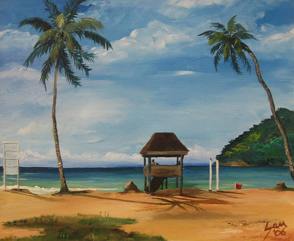 Wall Art - Painting - Maracas Bay 2 by Samantha Rochard