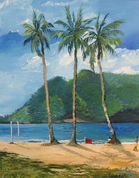 Wall Art - Painting - Maracas Bay 3 by Samantha Rochard