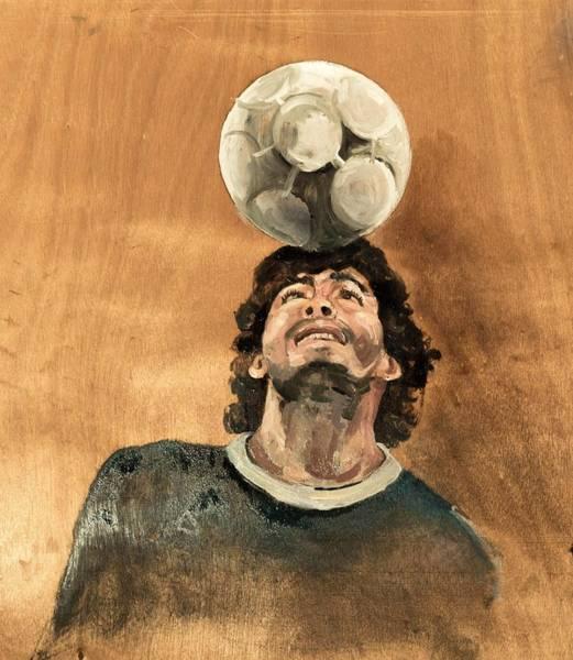 Pele Digital Art - Maradona by Mounir Meghaoui