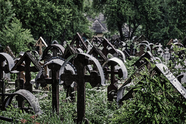Photograph - Maramures Church Cemetery - Romania by Stuart Litoff