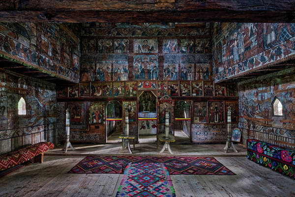 Photograph - Maramures Romania Church Interior by Stuart Litoff