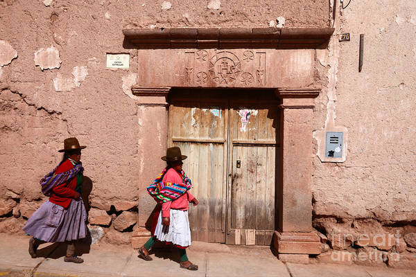 Photograph - Maras Street Scene Peru by James Brunker