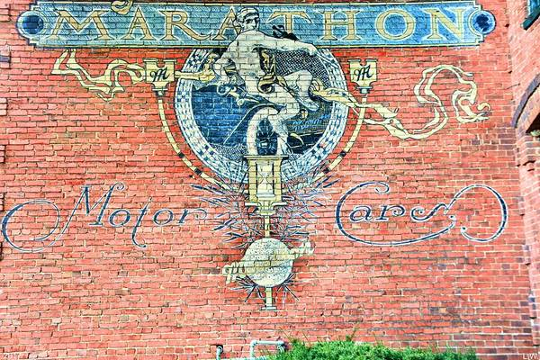 Photograph - Marathon Motor Cars Sign by Lisa Wooten