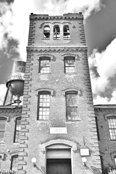 Photograph - Marathon Motor Works Tower Black And White by Lisa Wooten
