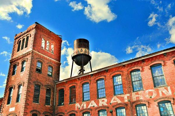 Photograph - Marathon Tower And Water Tower by Lisa Wooten