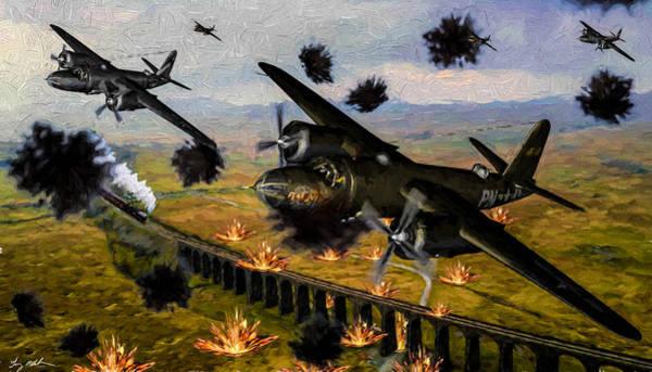 Wall Art - Digital Art - Marauder Strike - Oil by Tommy Anderson