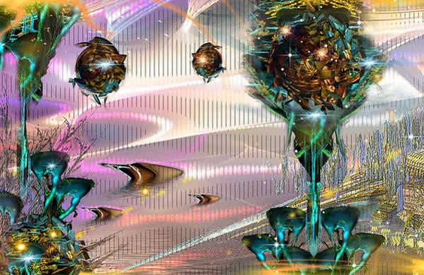 Fractal Landscape Digital Art - Maraxus Phins Mashup by Phil Sadler