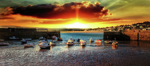 Cornwall Photograph - Marazion Sunsets by Martin Newman