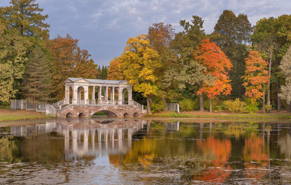 Wall Art - Photograph - Marble Bridge At Catherine Park by Russian School
