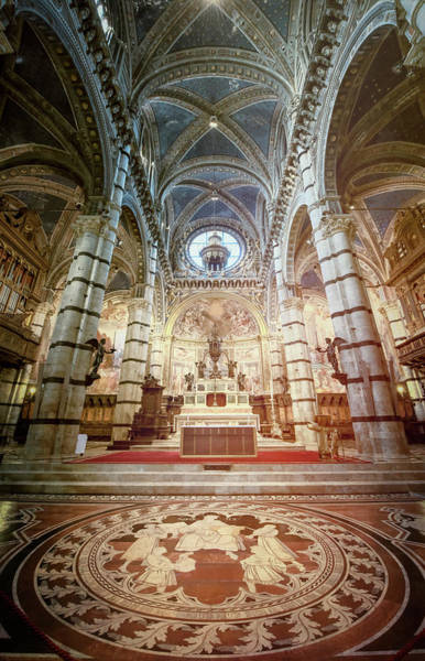 Photograph - Marble Floor Siena Italy Cathedral by Joan Carroll