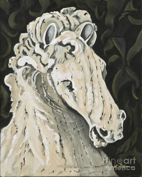 Holly Brannan Wall Art - Painting - Marble Horse by Holly Bartlett Brannan