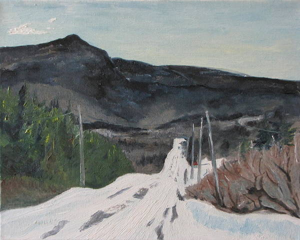 Wall Art - Painting - Marble Mountain Under Snow by Francois Fournier