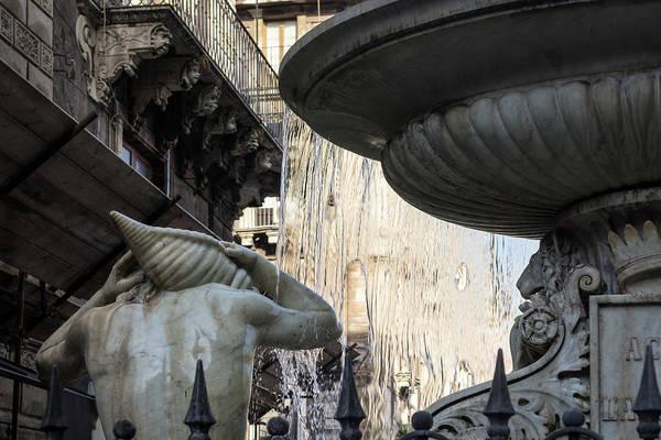 Photograph - Marble Muscles - Amenano River Fountain by Georgia Mizuleva