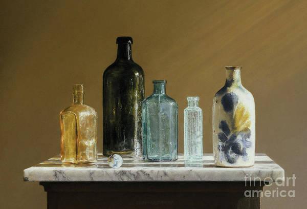 Marble On Marble Art Print by Barbara Groff