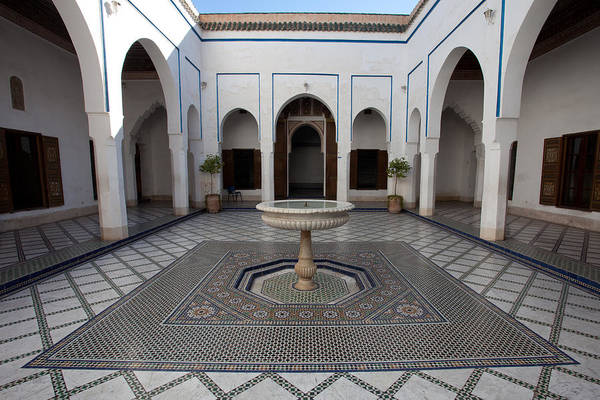 Photograph - Marble-paved Courtyard, Bahia Palace by Aivar Mikko