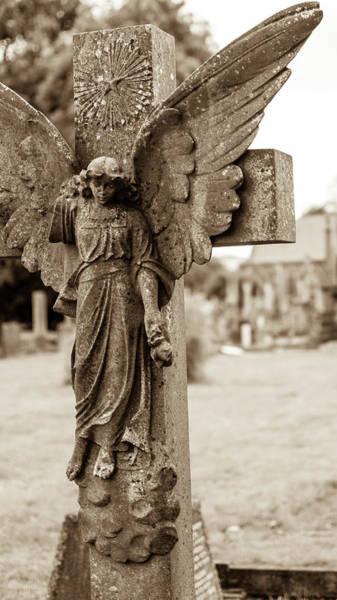 Photograph - Marble Statue Tomb A by Jacek Wojnarowski