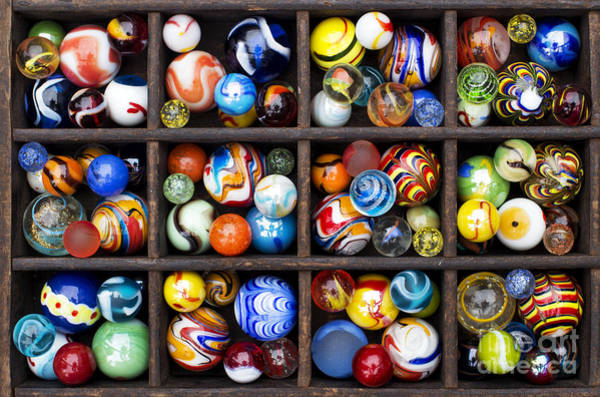 Hand Made Wall Art - Photograph - Marbleous by Tim Gainey