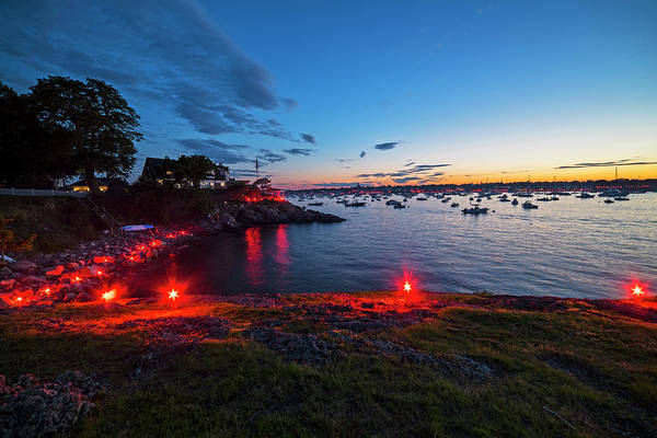 Photograph - Marblehead Harbor Illumination 2017 Chandler Hovey Lights by Toby McGuire