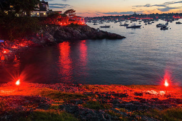 Photograph - Marblehead Harbor Illumination 2017 Chandler Hovey by Toby McGuire