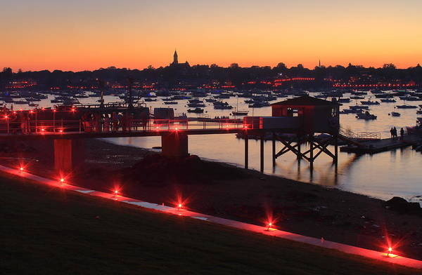 Wall Art - Photograph - Marblehead Harbor Independence Day Illumination by John Burk