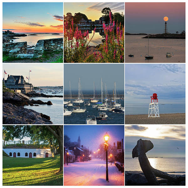 Photograph - Marblehead Ma Collage North Shore by Toby McGuire